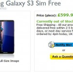Samsung Galaxy SIII Priced up