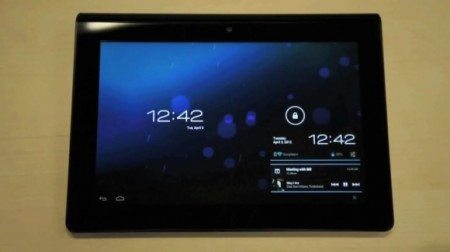 Android 4.0 hitting the Sony Tablet S.