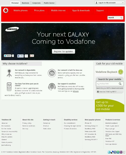 The Next Galaxy shows on Vodafone