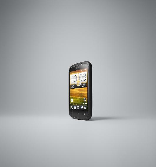 HTC Desire C FRONT LEFT BLACK RGB