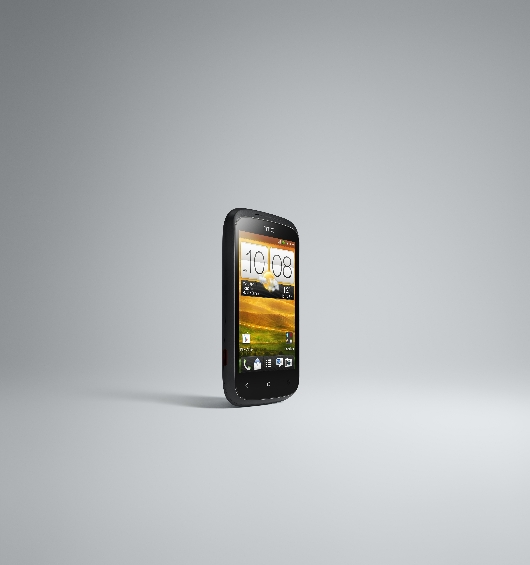HTC Desire C FRONT RIGHT BLACK RGB