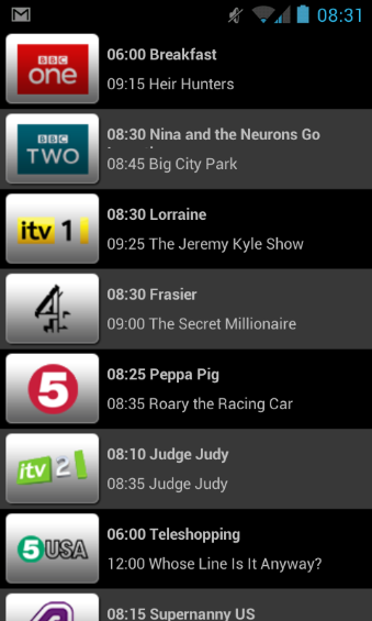 TV Catchup Beta Now available for Android