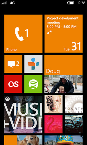 WindowsPhone8StartSc Page