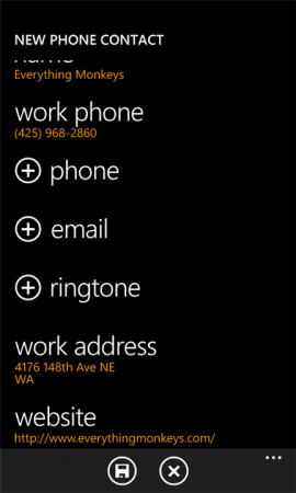 Coolsmartphone Recommended Windows Phone App   Add To Contacts