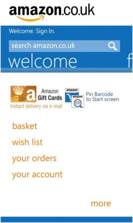 Amazon Mobile App for Windows Phone is finally available in the UK
