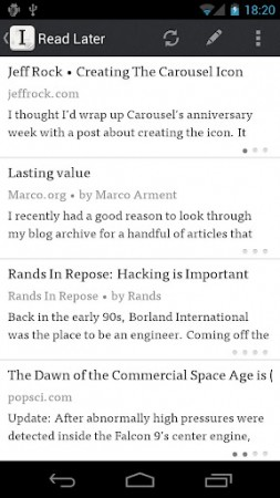 Instapaper now available for Android