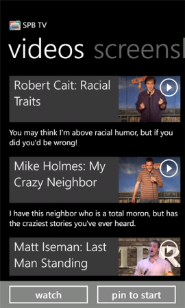 SPB TV is now available for Windows Phone