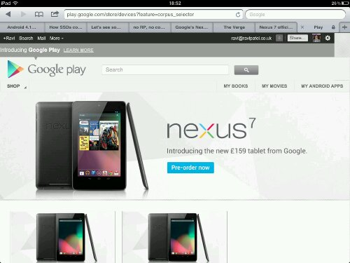 Google I/O: Google Confirm Nexus 7 Tablet