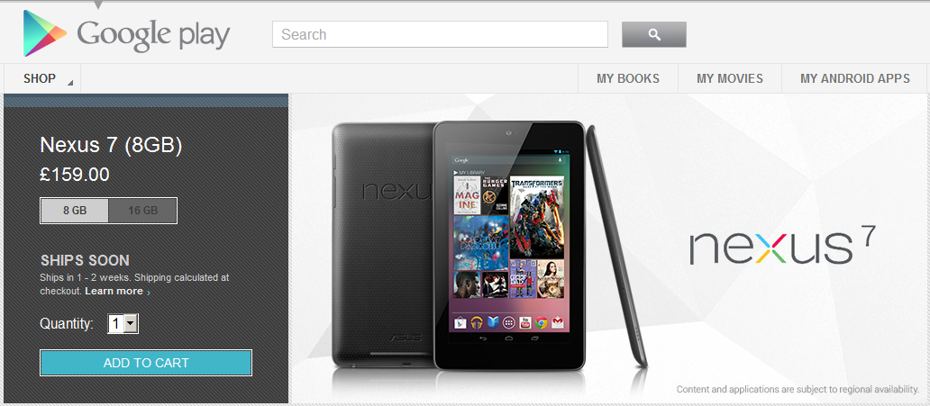 [UPDATE 4] Ebuyer & Google dispatching Nexus 7 tablet