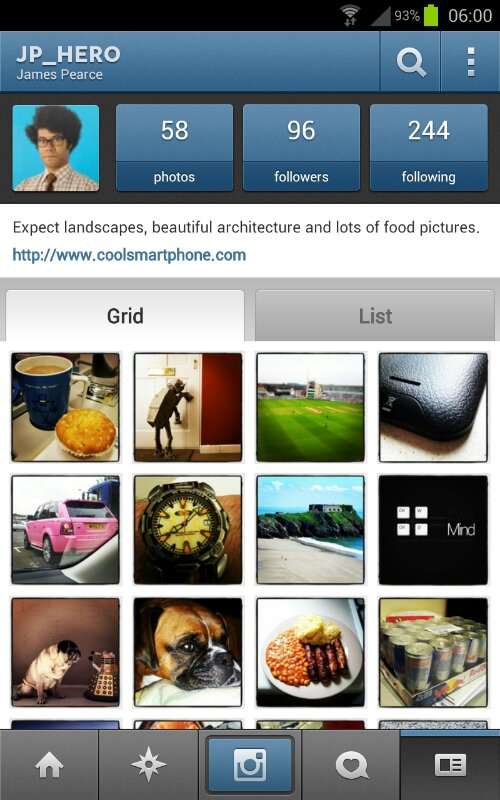 Instagram for Android now works on the Nexus 7