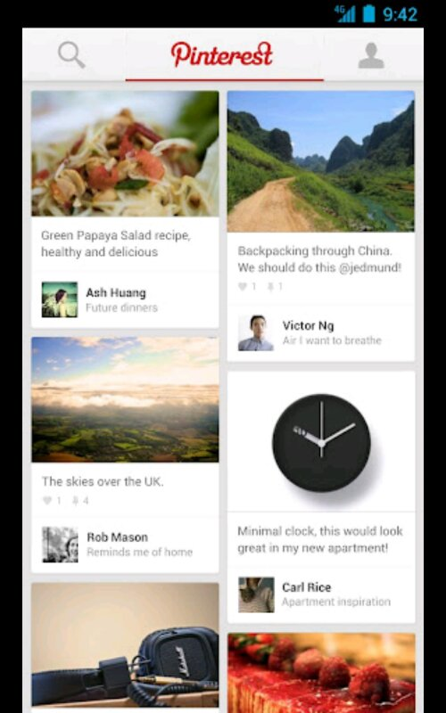 Pinterest for Android now available