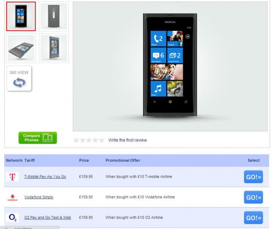 Lumia 800 down, down, down in price