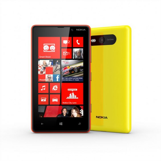 700 nokia lumia 820 red and yellow