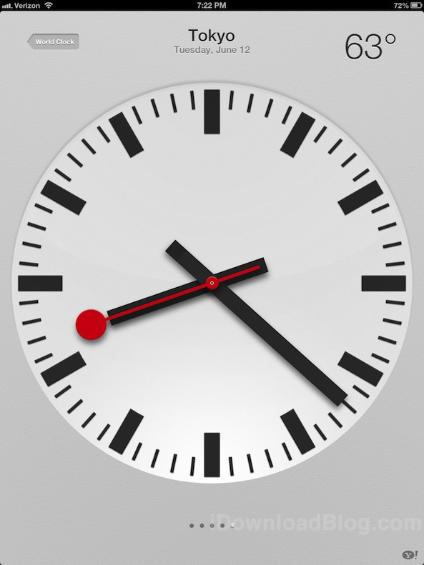 Clock App iPad iOS 6 01