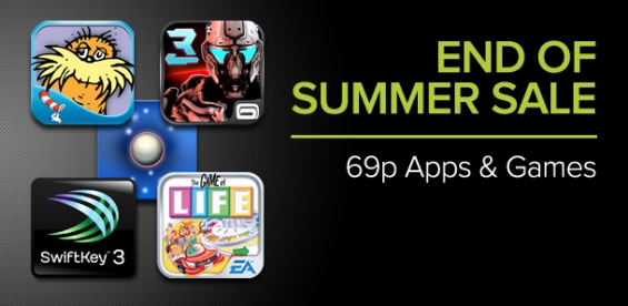 Google Play End Of Summer Sale......