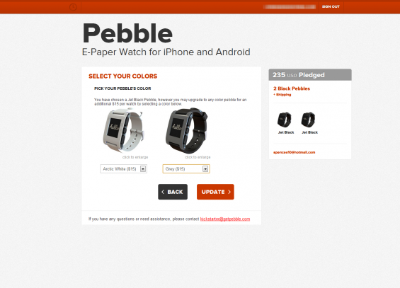 Pebble   Select Your Colors