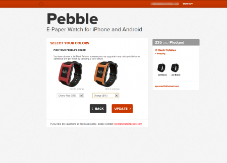 Pebble shipping in October?