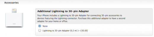 Apple to supply free Lightning to 30 Pin connectors with iPhone 5 orders