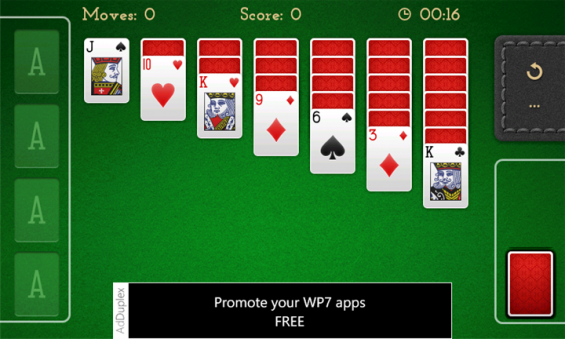 Windows Phone game review   Solitaire