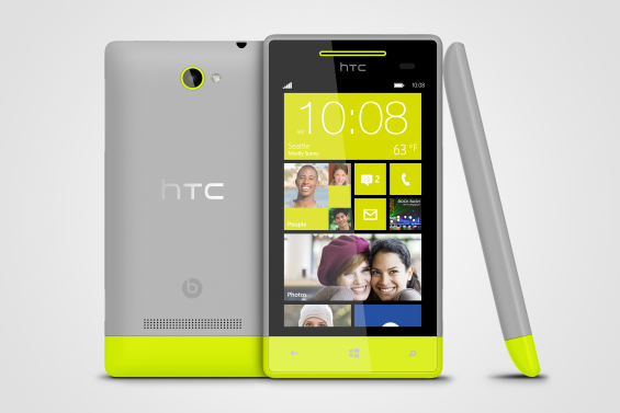 WP 8S by HTC High Rise Grey 3views