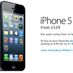 iPhone 5 priced at £529