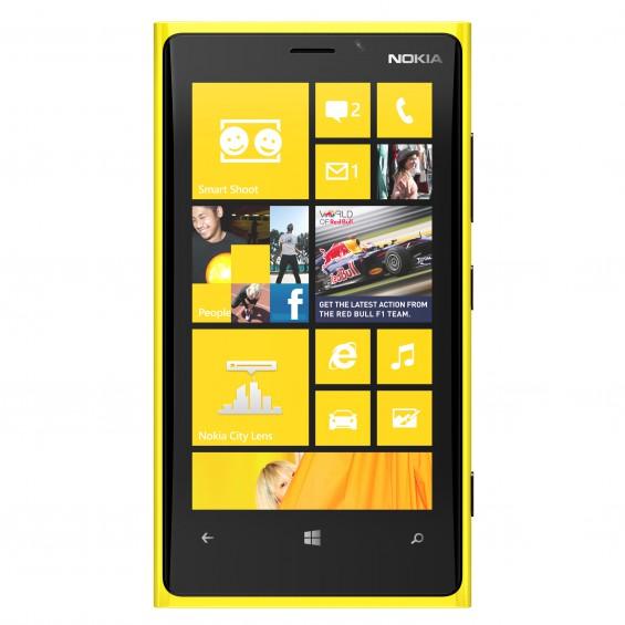 nokia lumia 920 yellow front