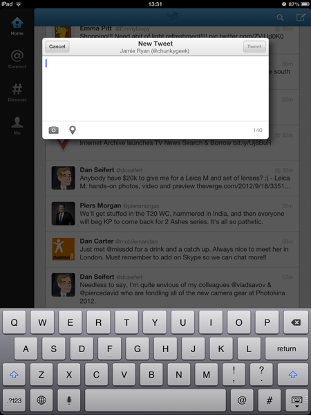 Twitter for iOS updated with refreshed iPad UI (Update: Android too)