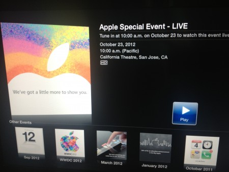 Apple to stream todays event live to Apple TVs and on Apple.com