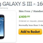 Samsung Galaxy SIII in Black available tomorrow