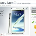 Galaxy Note II up for £529.99 SIM-free