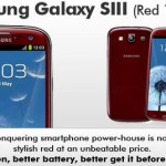 Galaxy SIII – Now available in red