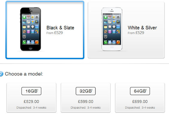 iphone 5 availability
