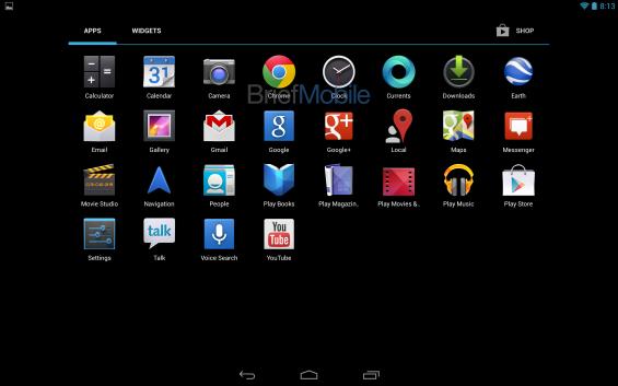 nexus 10 app drawer