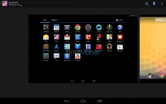 nexus 10 gallery filmstrip