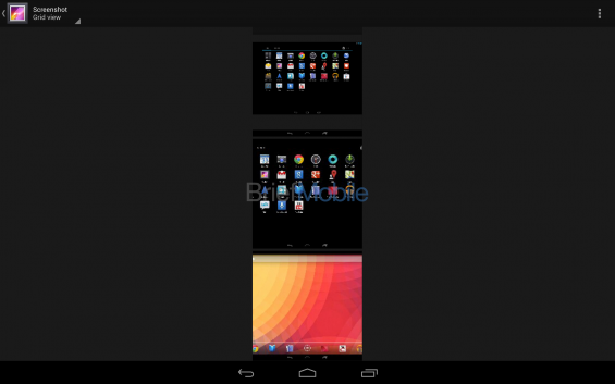 nexus 10 gallery grid