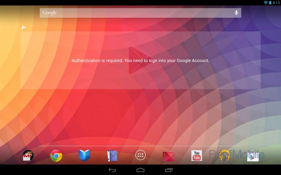 nexus 10 homescreen widget