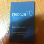 Nexus 10 manual images appear – [rumour]