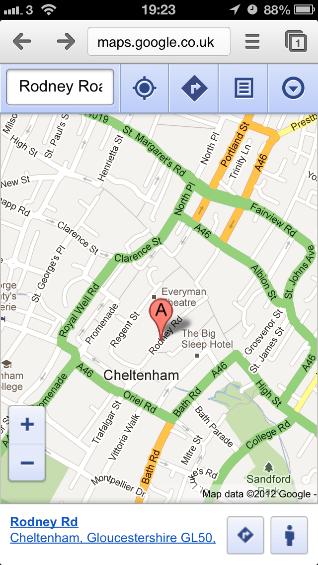 Google Maps on iOS6 Streetview