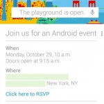 Google event scheduled for October 29th – bring on the fun!