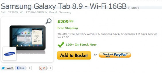 Samsung Galaxy Tab 8.9 now even cheaper