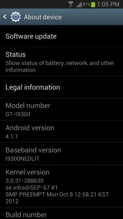 Three pushing Jelly Bean update to Galaxy S3   updated with reader screenshot