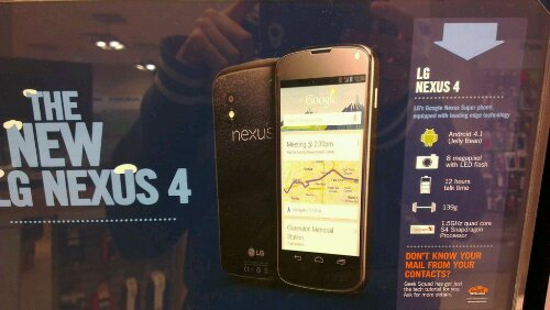 Carphone Warehouse announce the LG Nexus 4   a little bit early