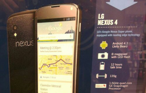 Nexus 4 advert in Car Phone Warehouse reveals price before launch