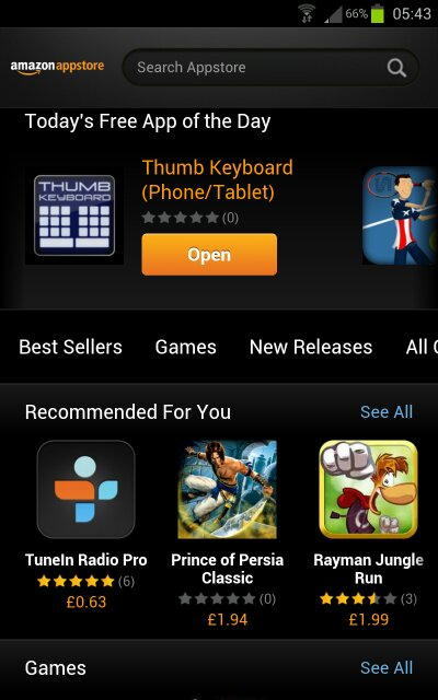 UK Amazon Appstore freebie   Thumb Keyboard