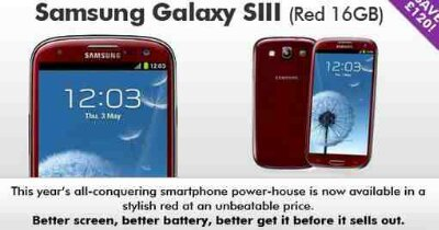 Red Galaxy SIII Price drop, today only