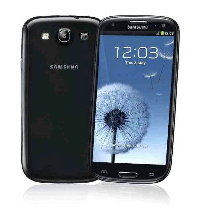 Black Samsung Galaxy SIII now in stock