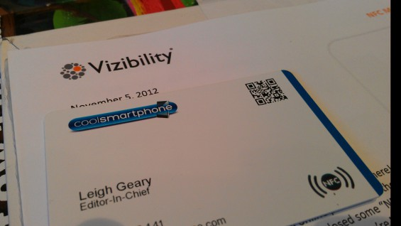 Vizibility   Clever NFC business cards and an online identity