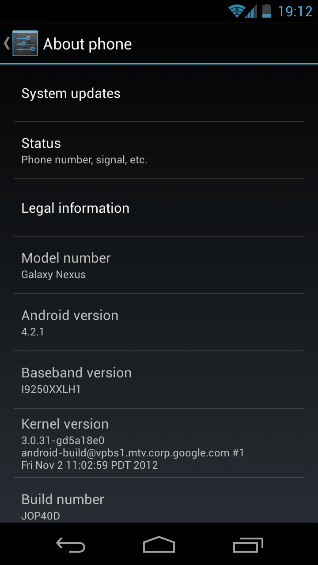 Now Galaxy Nexus getting 4.2.1 update