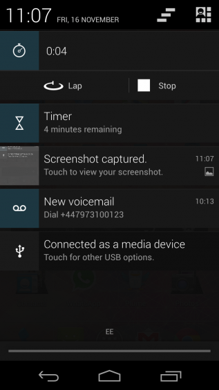Timer notifications