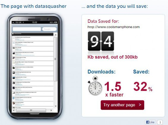 Datasquasher   Reduce data use, speed up your mobile browsing